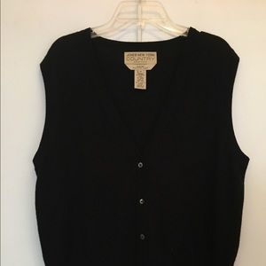 Jones New York button up sweater vest